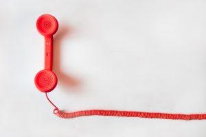 red phone representing customer communication