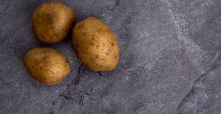 potato full of soil